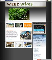 Weed Wars Webseite bei Discovery