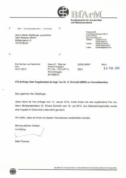 covergrafik informationsfreiheits gesetz anfrage versagung anbauerlaubnis 2010 AZ Koeln 7K3889-09