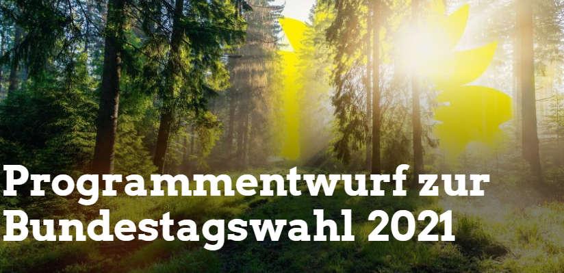 Die Grüne Partei beschliesst ihr Bundestags Wahlprogramm